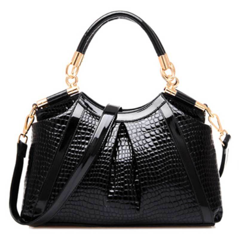 New Shoulder women bags Fashion Royal Blue Ruby Red handbags woman crocodile Pattern PU Leather Women Handbag notebook