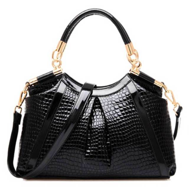 2016 New Shoulder women bags Fashion Royal Blue Ruby Red handbags woman crocodile Pattern PU Leather Women Handbag notebook
