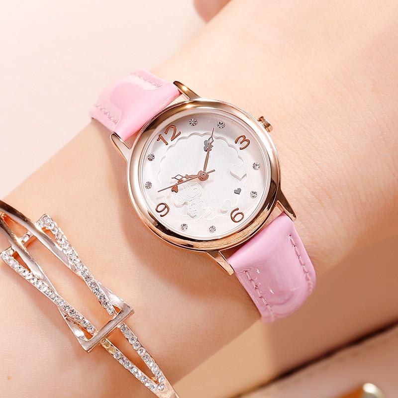 Snoopy Kids Watches Children Watches Casual Fashion Cute Quartz Wristwatches Girls Clock