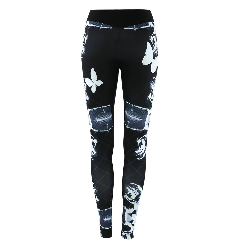 Breathable Women's Gym Yoga Leggings  Floral Prints Pants Running Fitness Trousers Outdoor Excercise Long Pants Tight Leggings 4