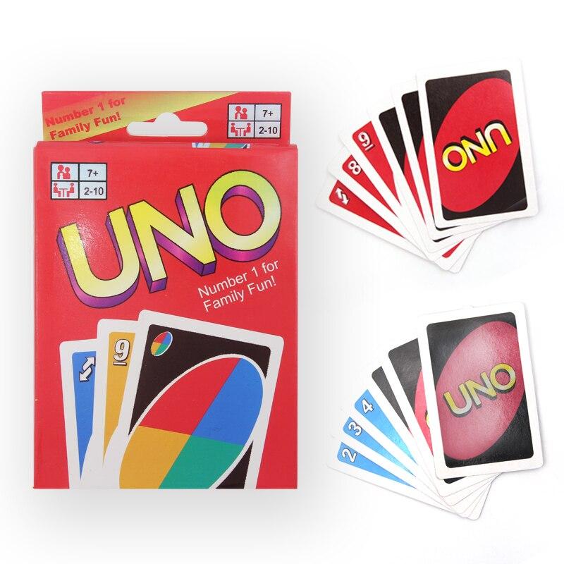 UNO карточная игра покер Семья весело одна упаковка 108 шт. Покер Карточная игра раза игральных карт развлечения Настольная игра