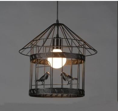 Retro Birdcage Light Pendant Iron Artistic Creative Small Cafe Bar Counter Restaurant Pentand Ligh Ta9146t
