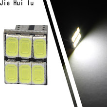 1pcs T10 W5W 6 LED 194 501 Auto 5630 6 SMD Car Interior lights Wedge Door Instrument Side Bulb Lamp DC 12V(China)