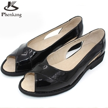 Genuine leather shoes women US size 9.5 handmade slip on black pink beige 2017 England College Style oxford shoes for women
