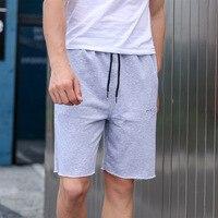 Men's Bodybuilding Shorts Fitness Workout Inseam Bottom Cotton Male Fashion Casual Short Men Jogger Brand Clothing