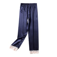Летняя женская пижама, атласные пижамные штаны, женское сексуальное кружевное белье, ночное белье, нижнее белье, ночная рубашка, пижамы, домашние штаны, Modis BB4