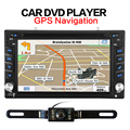 GPS del coche Nuevo de Radio de Coche universal Doble 2 Din Car DVD Player de Navegación GPS Unidad Principal Estéreo de vídeo + Free mapa subwoofer