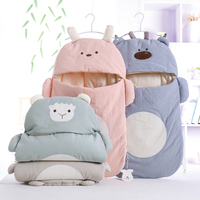 Baby Sleeping Bag Envelope Newborns Baby Cocoons Cartoon Soft Colored Cotton Diaper Cocoons For Newborns Sleep Baby Sleepsacks