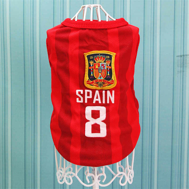 1c45d1530ef9 ... Sport Dog Clothes Cotton Pet T Shirt Clothing For Pug French Bulldog  Summer Big Dogs Shirts ...