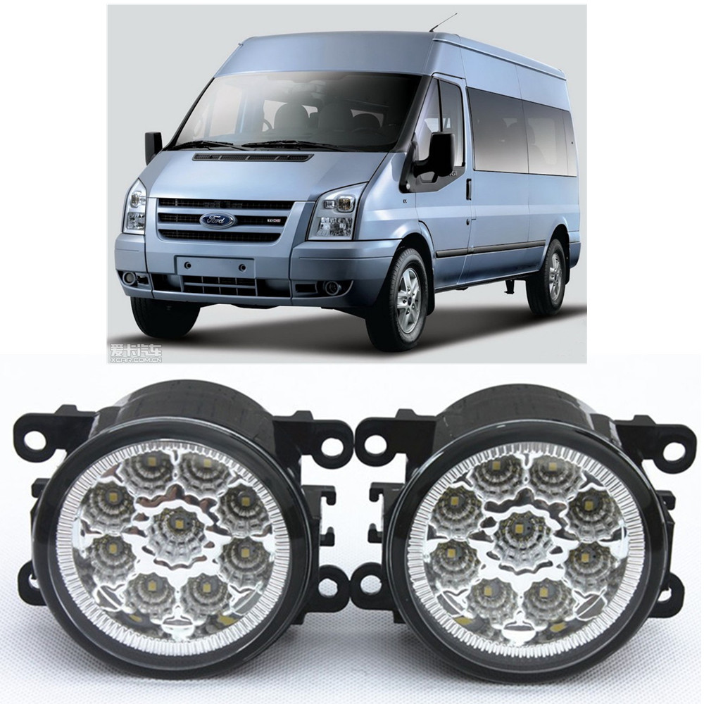 For FORD TRANSIT Bus 2006-2015 Car-Styling Led Light-Emitting Diodes DRL Fog lamps 1set for nissan x trail t30 2001 2006 car styling led light emitting diodes drl fog lamps