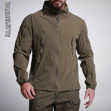 Vaguelette Men Jacket Military Style Solid Color Green/Khaki/Grey Men Out Wear Hunting Outdoor Waterproof Tactical Jacket S-3XL