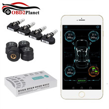 2017 High Quality Bluetooth 4.0 TPMS Car Tire Tyre Pressure Monitoring System for Android IOS With 4 Sensors TPMS Alarm System