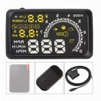 Universal Car HUD Head Up Display Projector 5.5 Inch OBD 2 Interface Speeding Warning Alarm System Digital Car Speedometer Data