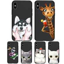 For iPhone X XR XS Max 5 5S SE 6 6S 7 8 One Plus 5 5T 7 Pro Oneplus 6 6Tphone Case Cover phone Funda Coque Etui Cat dog animal