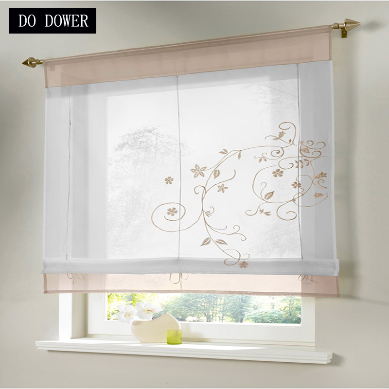 Solid Curtains Transparent Short kitchens curtains for the living room Window Drapes bedroom garland corina New Year decoration