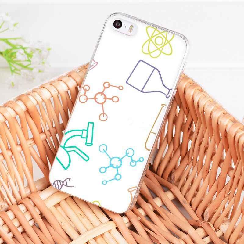 Yinuoda الكيمياء خربشات على الأبيض جميل الهاتف حقيبة لهاتف أي فون 8 7 6 6S Plus X 10 5 5s SE XR XS XSMAX11 11pro 11promax