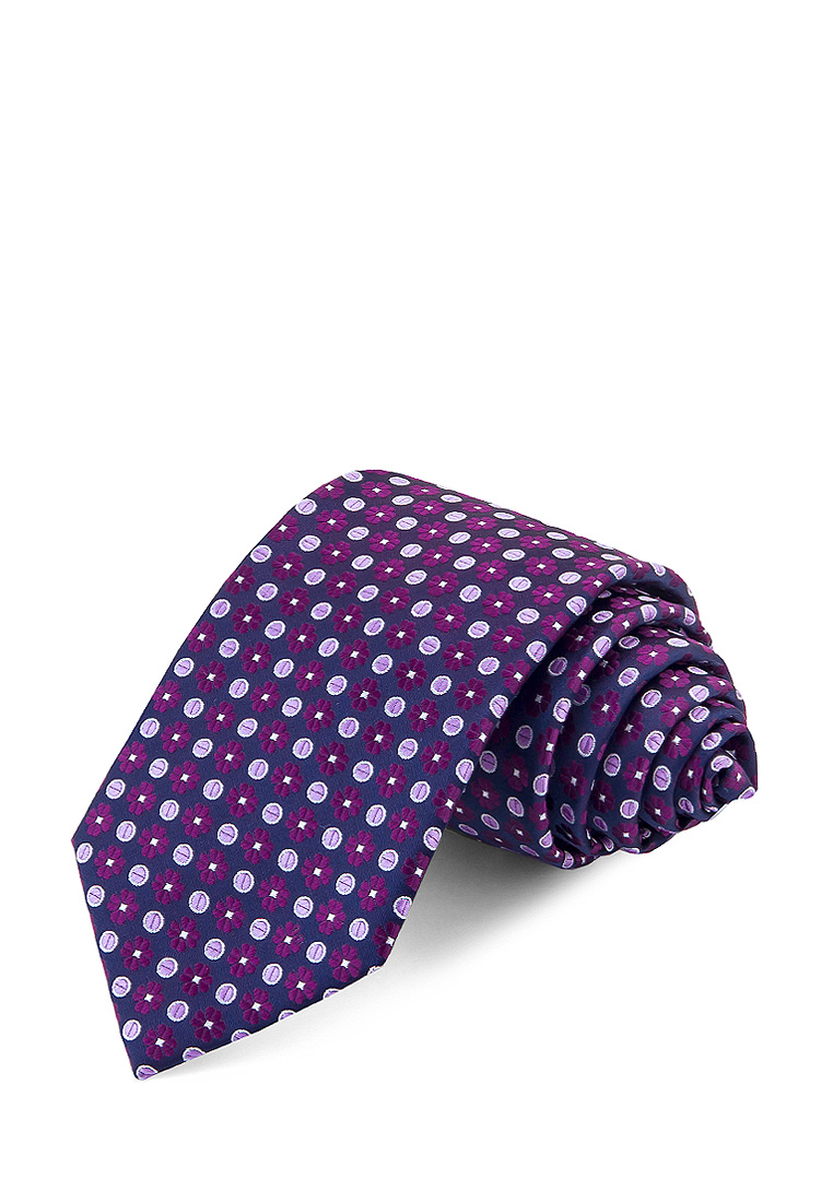 [Available from 10.11] Bow tie male GREG Greg poly 8 Violet 708 7 74 Purple casual scrawl flowers pattern tie pocket square bow tie