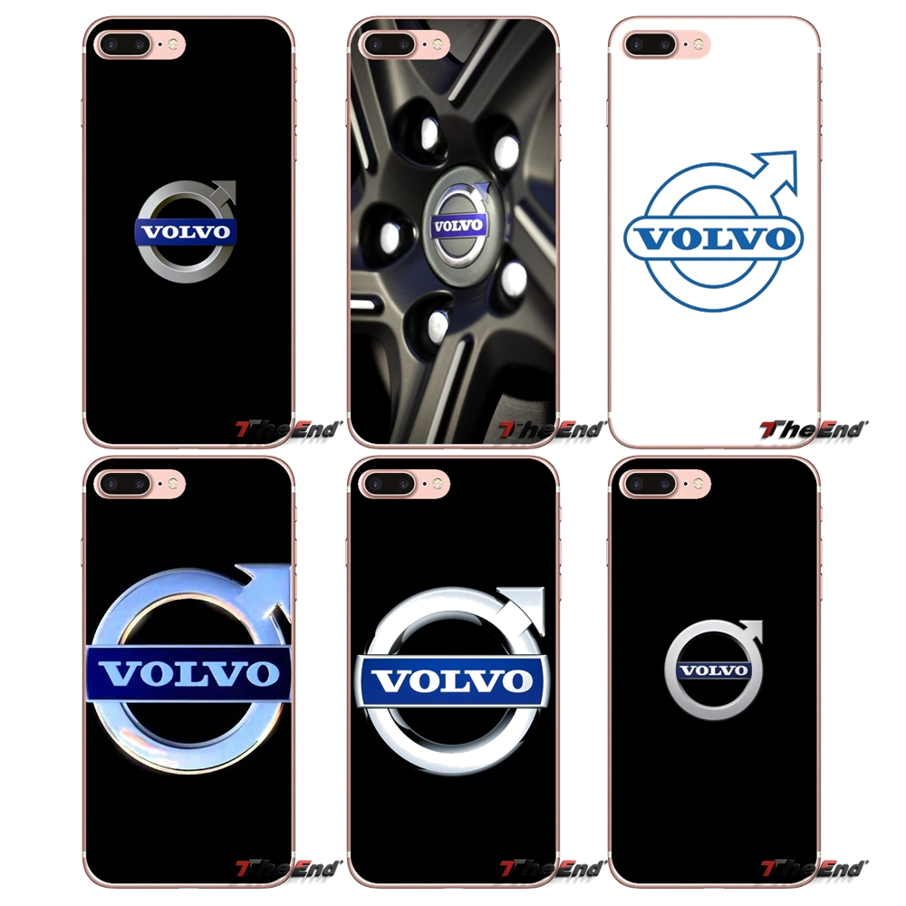 Us 0 99 Silicone Phone Cases Luxury Car Volvo Logo For Iphone X 4 4s 5 5s 5c Se 6 6s 7 8 Plus Samsung Galaxy J1 J3 J5 J7 A3 A5 2016 2017 In