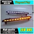 A & T car styling Para AU di Q7 LED DRL Para Q7 guía de alta luminosidad LED DRL led luces de circulación diurna luz de niebla