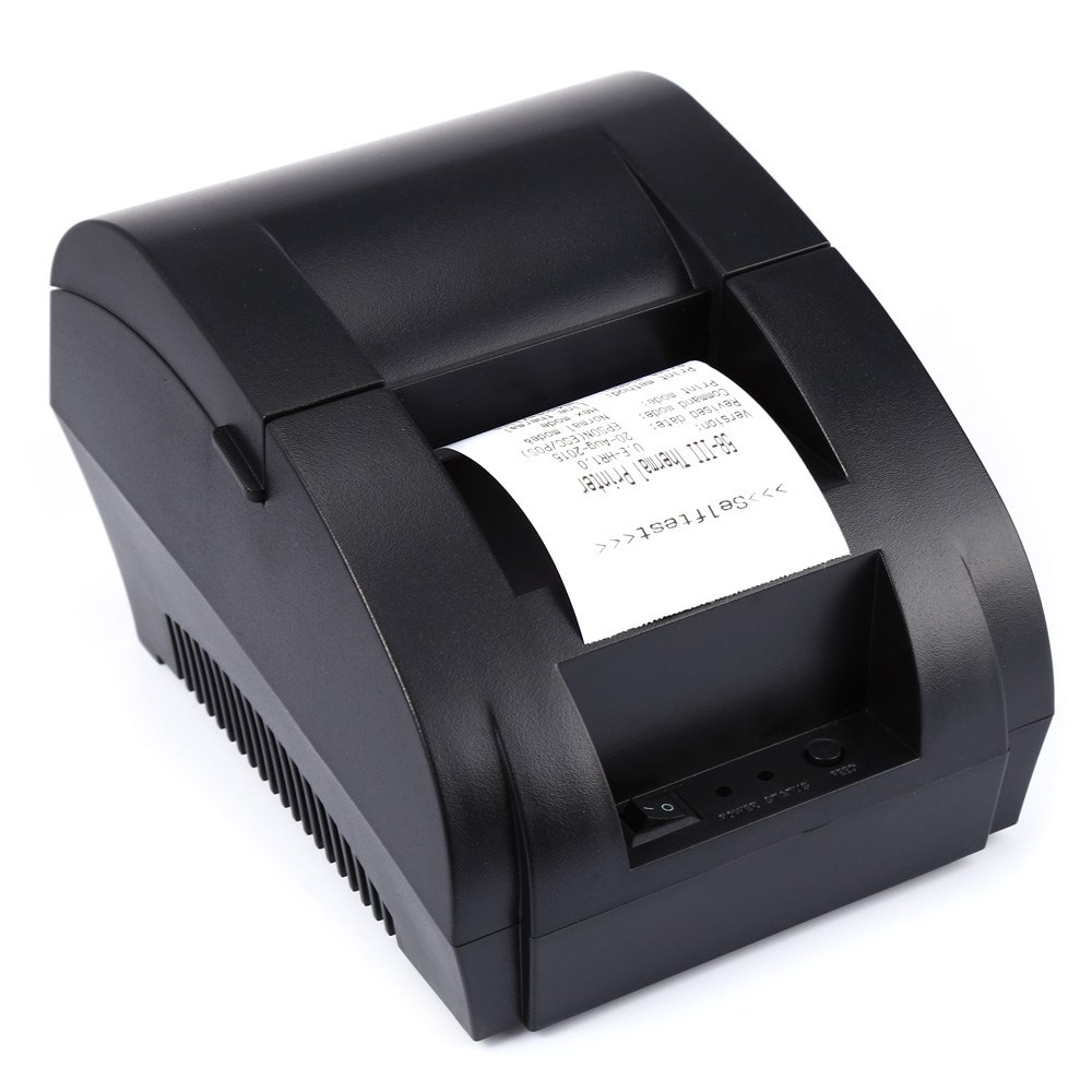 Original ZJ - 5890K Mini 58mm  Low Noise POS Receipt Thermal Printer with USB Port EU PLUG
