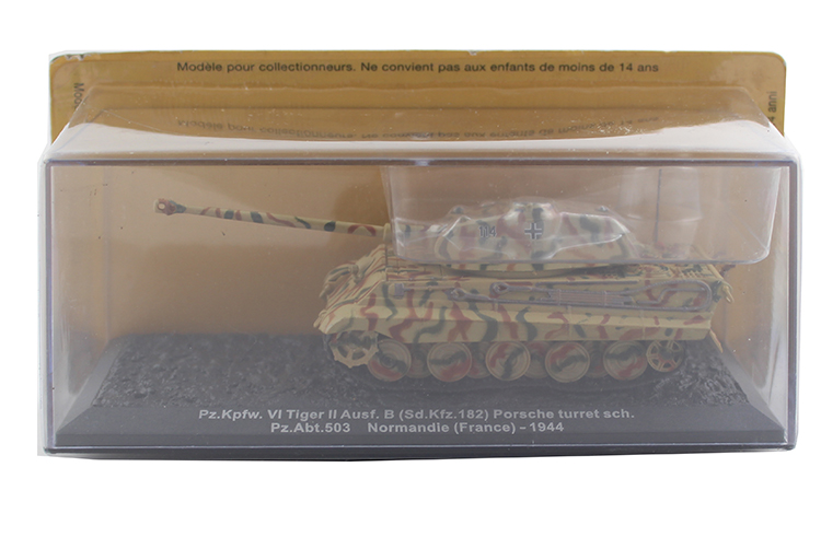 цена на 1/72 Germany Pz.Kpfw.VI Tiger II Ausf.B Heavy tank model Alloy collection model Holiday gift