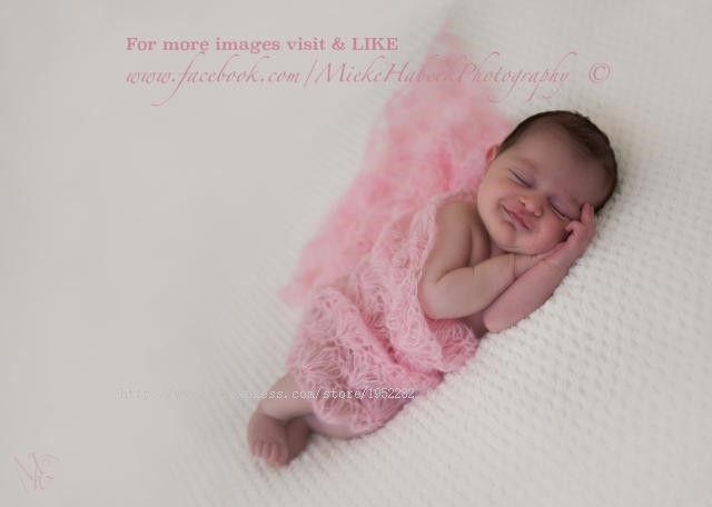Mohair & Wool stretch knit wrap newborn photo prop baby blanket Hand Knit Photography Props Wrap Baby Wrap 40*60cm