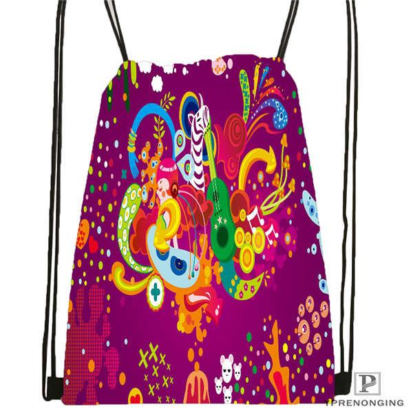 Custom Mandala-Buddhist-@2 Drawstring Backpack Bag For Man Woman Cute Daypack Kids Satchel (Black Back) 31x40cm#20180611-03-144