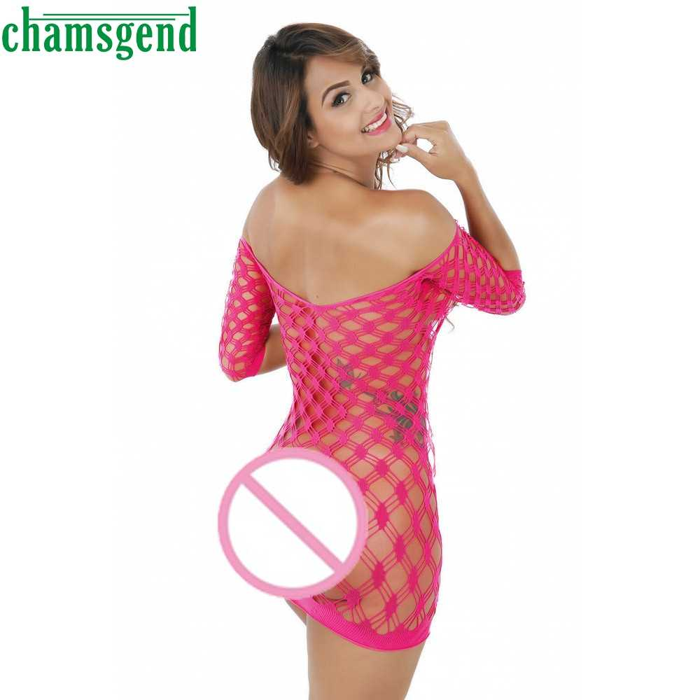 Bikini 2017 Wanita Pakaian Seksi Mujer Femme Pakaian Fishnet Mesh Dress suit tops Malam Pakaian Wanita Setelan Tubuh Mar23