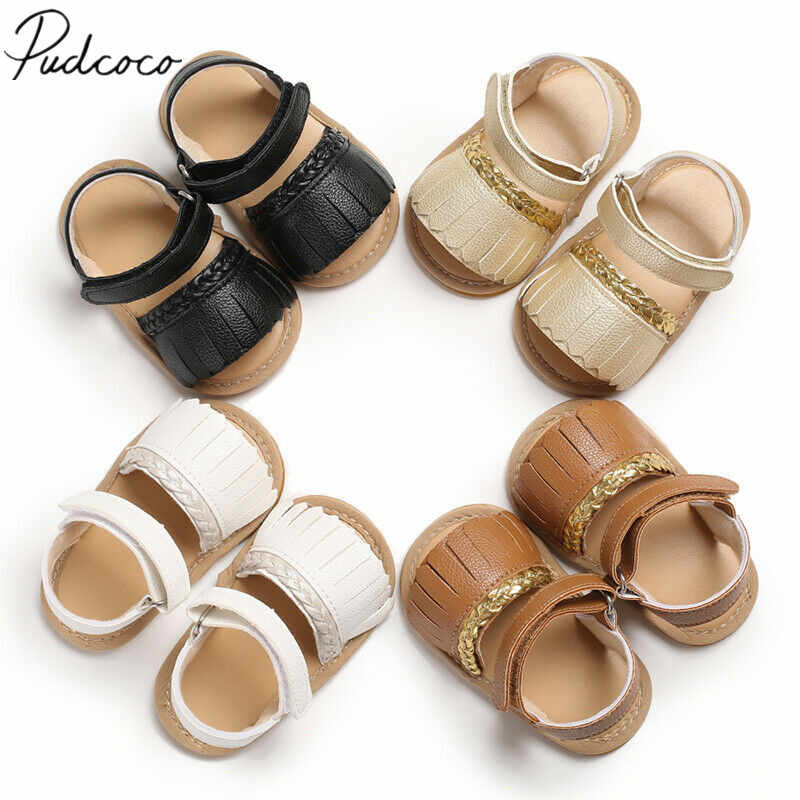 2019 Baby Summer Clothing Newborn Infant Baby Girls Boys Sandals Tassel Solid Hold Leather Soft Anti Slips Shoes Kids 0-18Months