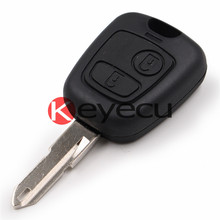 Keyecu 30PCS/LOT Brand New Replacement Shell Remote Key Case for 2 BTN PEUGEOT 206 205 405 106 Keyless Entry Remote Fob No Logo