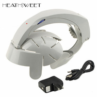 Healthsweet Home Electric Head Massager Acupoint Relax Brain Vibrating Stress Release Machine Head Spa Massage Helmet Grey Color
