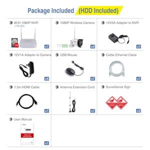 Image 5 - Tonton Draadloze Cctv systeem 1080P 1 Tb Hdd 2MP 8CH Nvr Video Surveillance Audio Opname Pir Sensor Outdoor Cctv camera Kit