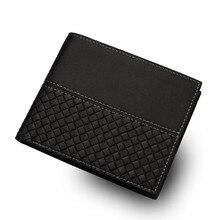 купить Black Men Wallets Designer Mens Wallet with Coin Bag Bifold Small Money Purses 2019 New Short Slim Purse Money Clip Wallet по цене 455.37 рублей