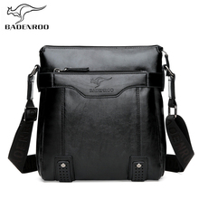 Badenroo New Male Casual Business Shoulder Crossbody Bags Men Leather Messenger Bags Brand Designer Handbags Fashion Flap Bags high end vegetable leather bags full grain cattle hide single shoulder bags business casual men male soft messenger bags xw6205