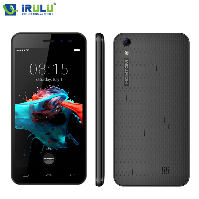 iRULU HOMTOM HT16 5.0 inch 1280x720HD Smartphone MT6580 1.3 GHz Android 6.0 Quad Core Cellphone 1GB+8GB 8MP Smart Mobile Phone
