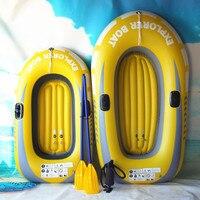Neue 150/188cm Gaint Aufblasbare Kajak Kanu 150kg/250kg Rudern Luft Boot Doppel Ventil Treiben tauchen Aufblasbare Boot Fischerboot