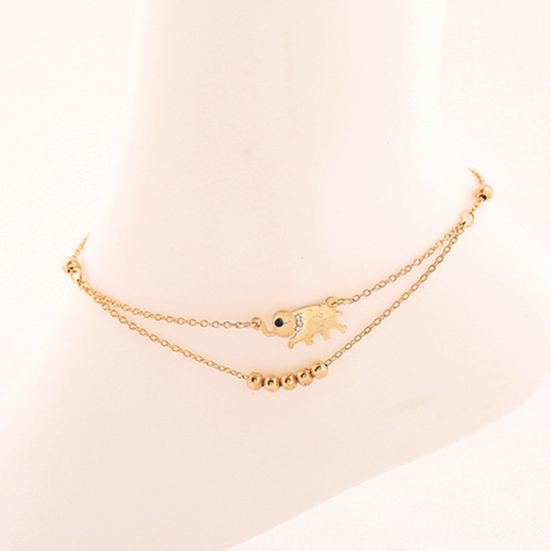 2813861d1 Sexy Summer Beach Rhinestone Elephant India Barefoot Chain Ankle Foot Charm Bracelet  Jewelry Anklets For Women-in Anklets from Jewelry   Accessories on ...