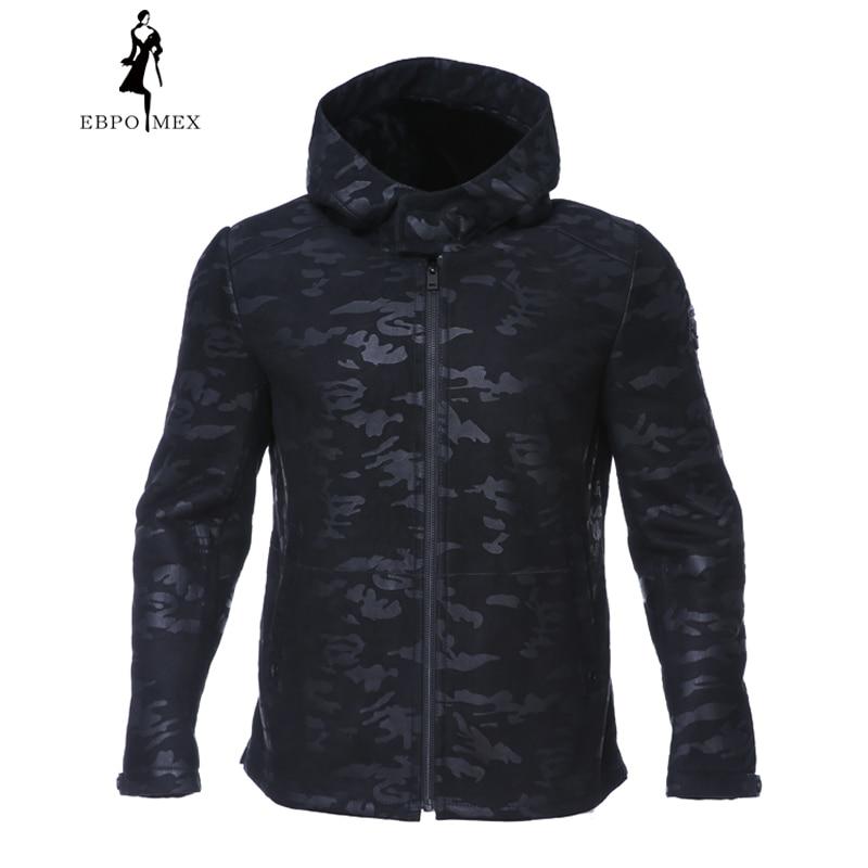 2017 Mode Pelz Mantel Winter Mantel Männer Schaffell Mäntel Männer Pelzmantel Männer Stil Rollkragen Militär Pelz Jacke