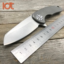 LDT F3 Folding Knife D2 Blade Titanium TC4 Handle Camping Knives Tactical Survival Outdoor Ceramic Ball Bearing Knife EDC Tools
