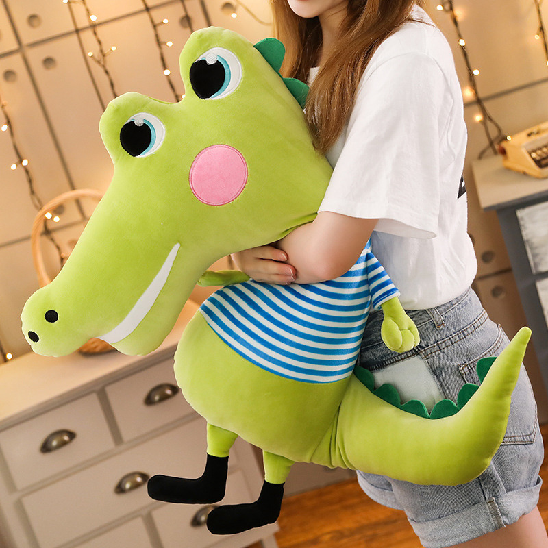 1pc 50 70cm Cartoon Crocodile Long Pillow Plush Toy Soft Stuffed Cushion Big Eyes Kawaii Lovely Gifts For Children Kids Presents in Stuffed Plush Animals from Toys Hobbies