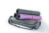 Yoga mat Natural rubber 183x86x5mm widen Professional practice exercise mat colchoneta with bag/bolso