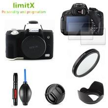 Volledige Beschermen Kit Screen Protector Camera Case Uv Filter Lens Hood Cap Cleaning Pen Voor Canon Eos M50 Mark Ii m50MK2 15 45Mm Lens