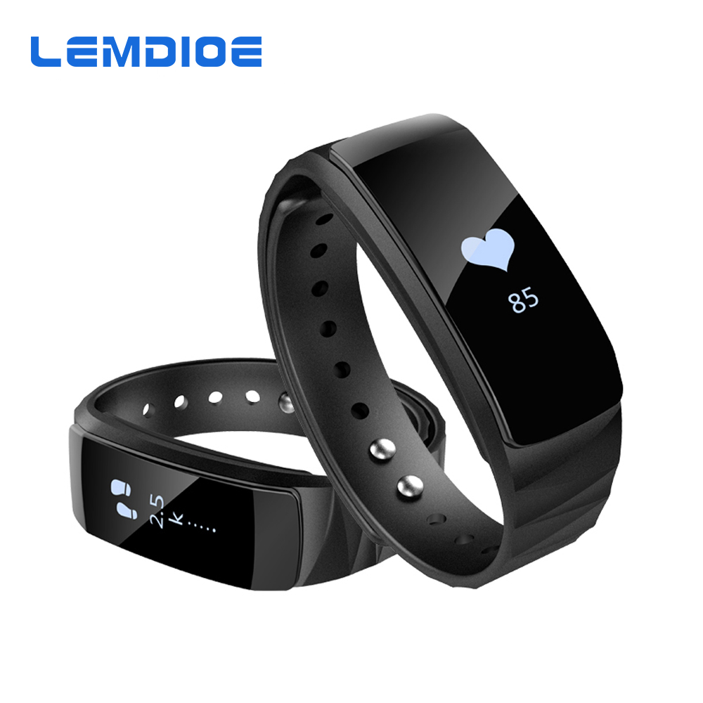 LEMDIOE P ONE Bluetooth Wristband Calories Heart Rate Monitoring Smart Bracelet Wristband Pedometer Smartband For Android
