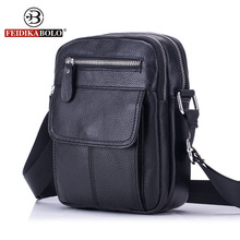 FEIDIKA BOLO Genuine Leather Bag Men Messenger Bags Men's Crossbody Bag Small sacoche homme Satchel Man Satchels Shoulder Bags