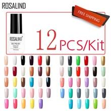 (12PCS/SET)ROSALIND Gel Nail Polish Set For Manicure Nail Extension Kit Nails Art Design Acrylic Off gellak White Gel Varnish