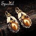 Специальный новинка эмали мотаться керамические бусины золотые серьги старинные ухо клип подарки для женщин EH160318