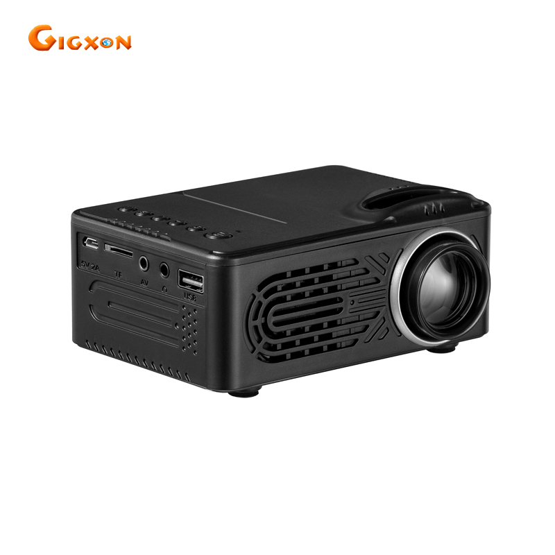 Gigxon - G814 mini projector 25-80 inches 30 lumens 1000:1 ratio pocket LED projector