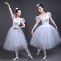 7fc077871d New Professional Ballet Swan Lake Tutu Veil Costume Adult Ballet Skirt Puff  White Classic Ballet Skirt
