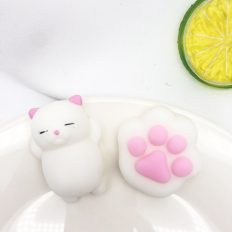 2pcs/set Squishies Soft Cute Cat Paw Antistress Decompression Sticky Eliminate Pets Fun Anti-Stress Squeeze Toys