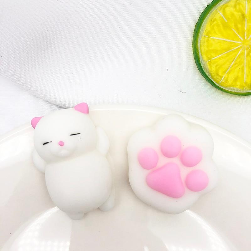 2pcs/set Squishies Soft Cute Cat Paw Antistress Decompression Sticky Eliminate Pets Fun Anti-Stress Squeeze Toys